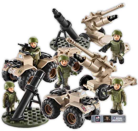 H.M ARMY INFANTRYMAN AND QUAD BIKE MINI SET new Armed Forces