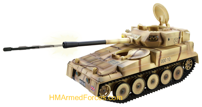 The british army tactical battle tank features a moveable turret and